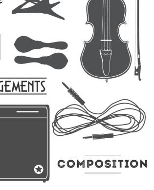 L'écriture musicale à la demande particulière du client. Essentiellement musique de théâtre, de film et d'illustration, mais également des compositions autonomes.